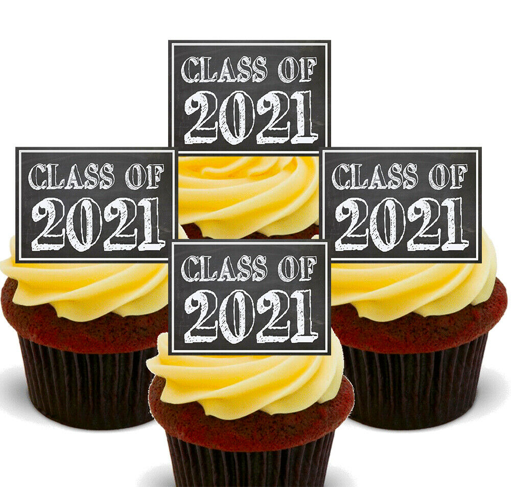 Class Of 2019 Edible Cupcake Toppers Graduation Stand Up Fairy Cake