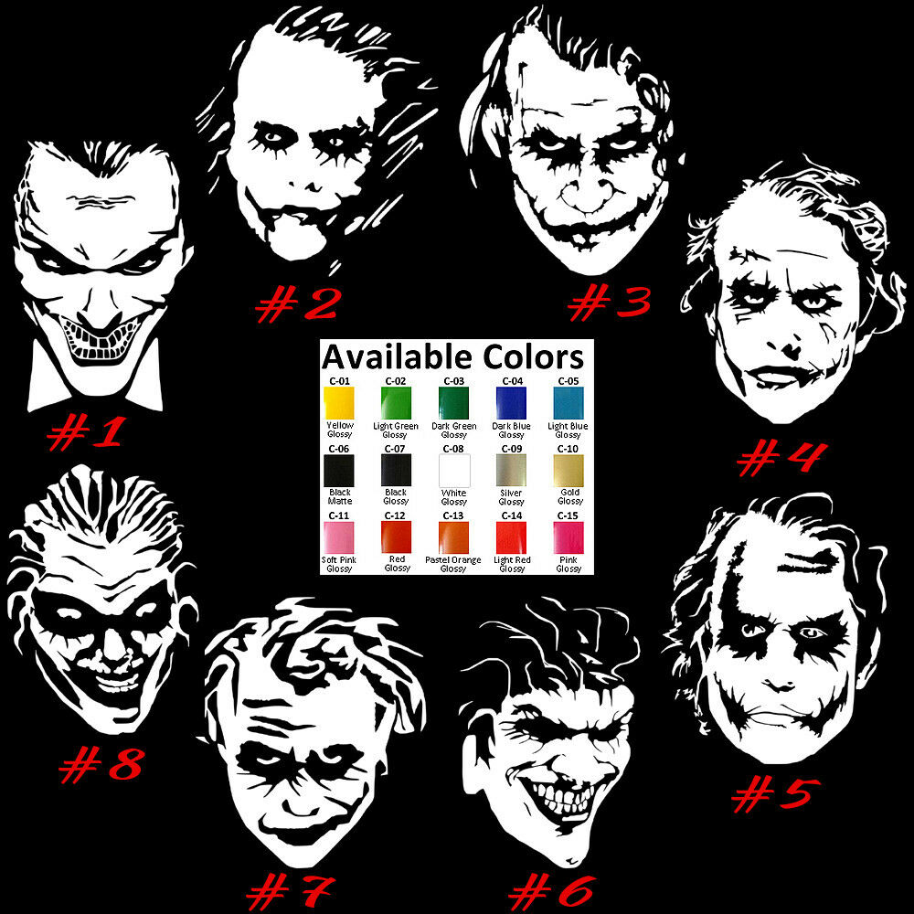 Details about joker vinyl decal sticker car window design laptop mastermind batman usa seller