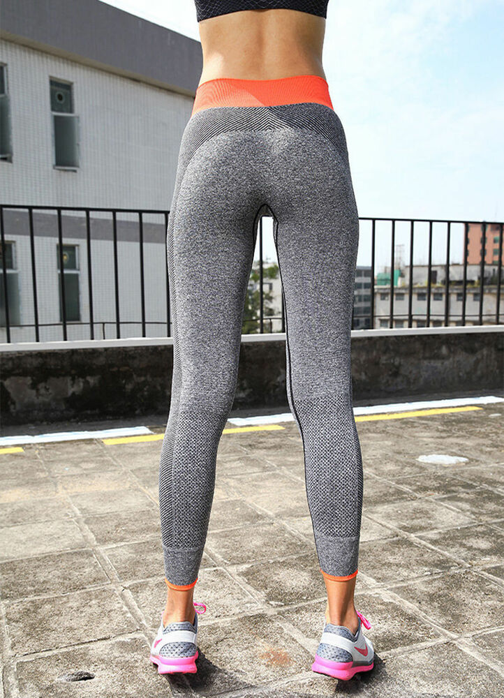 Women Yoga Leggings Pants Sport Athletic Gym running ...