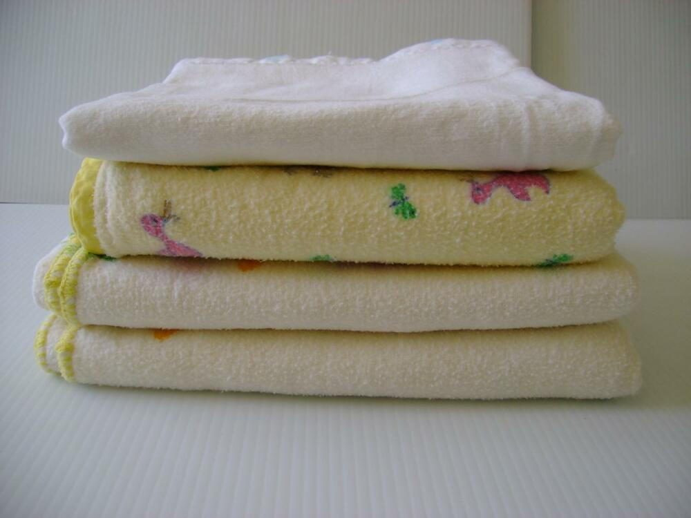 Vintage Baby Crib Receiving Blankets Infant Doll Flannel
