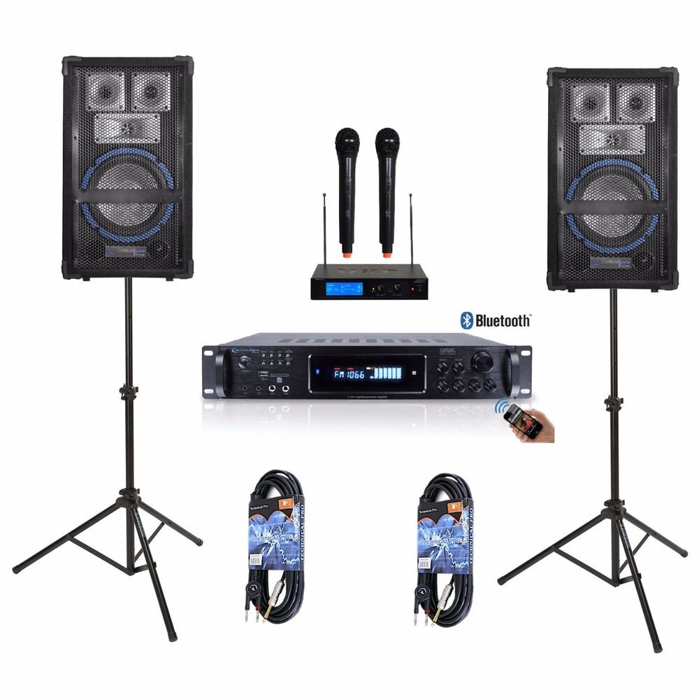 8 speaker system pro audio amplifier mixer dj kj youtube karaoke pa 1600 watts ebay. Black Bedroom Furniture Sets. Home Design Ideas