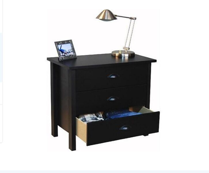 side tables for bedroom 3 drawer nightstand bedroom furniture bed side end wood 17058