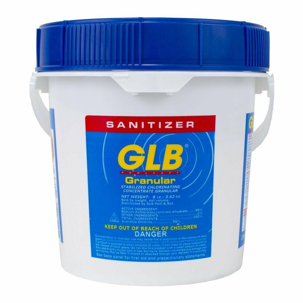 Glb 71220 Stabilized Granular Chlorine Swimming Pool Water Sanitizer 8 Lbs New Ebay