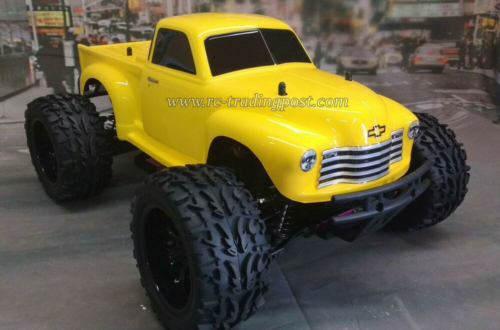 Line X Painted Truck >> 50s Chevy Pickup Custom Painted 4X4 Volcano EPX 1/10 RC Monster Truck Waterproof | eBay