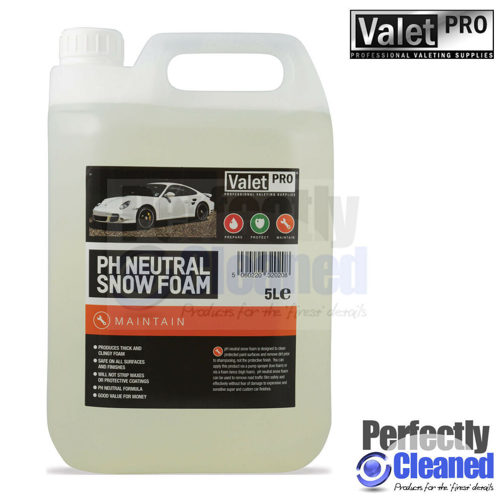valetpro detailing ph neutral snow foam 5 litres ebay. Black Bedroom Furniture Sets. Home Design Ideas