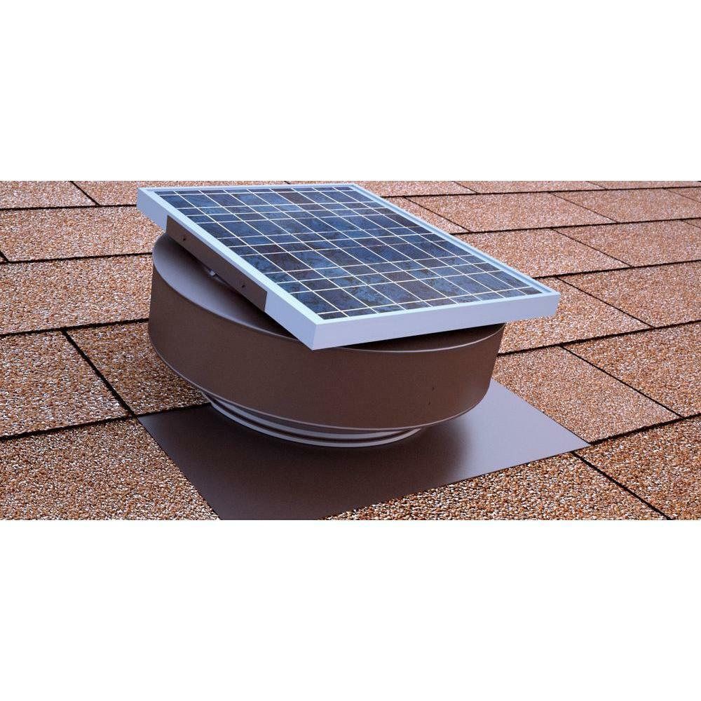 Attic Ventilation Roof Vents : Solar powered exhaust fan roof vent attic ventilator mount