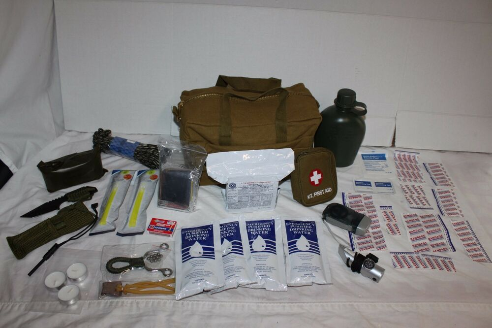 2 Day Emergency Camping Military Army Outdoor Survival Kit