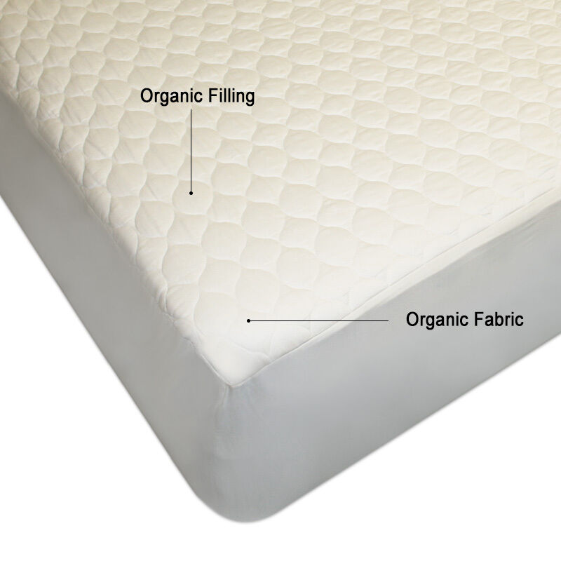 Non Gmo 100 Organic Cotton Mattress Pad Topper Cal King