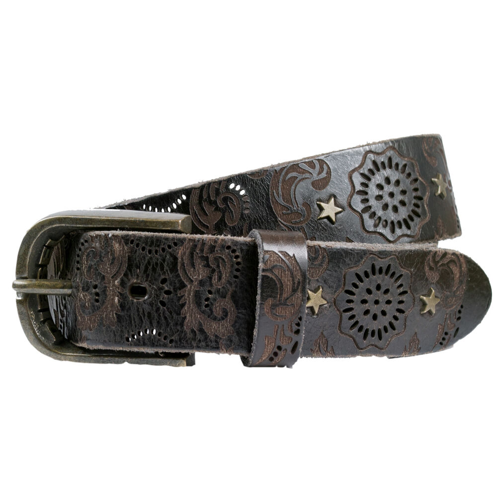 diesel belt bidated belt leather with rivets
