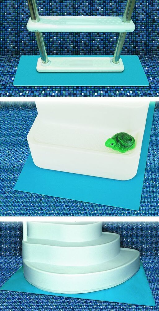 Tools 87956 protective pool ladder mat and pool step pad for Pool ladder