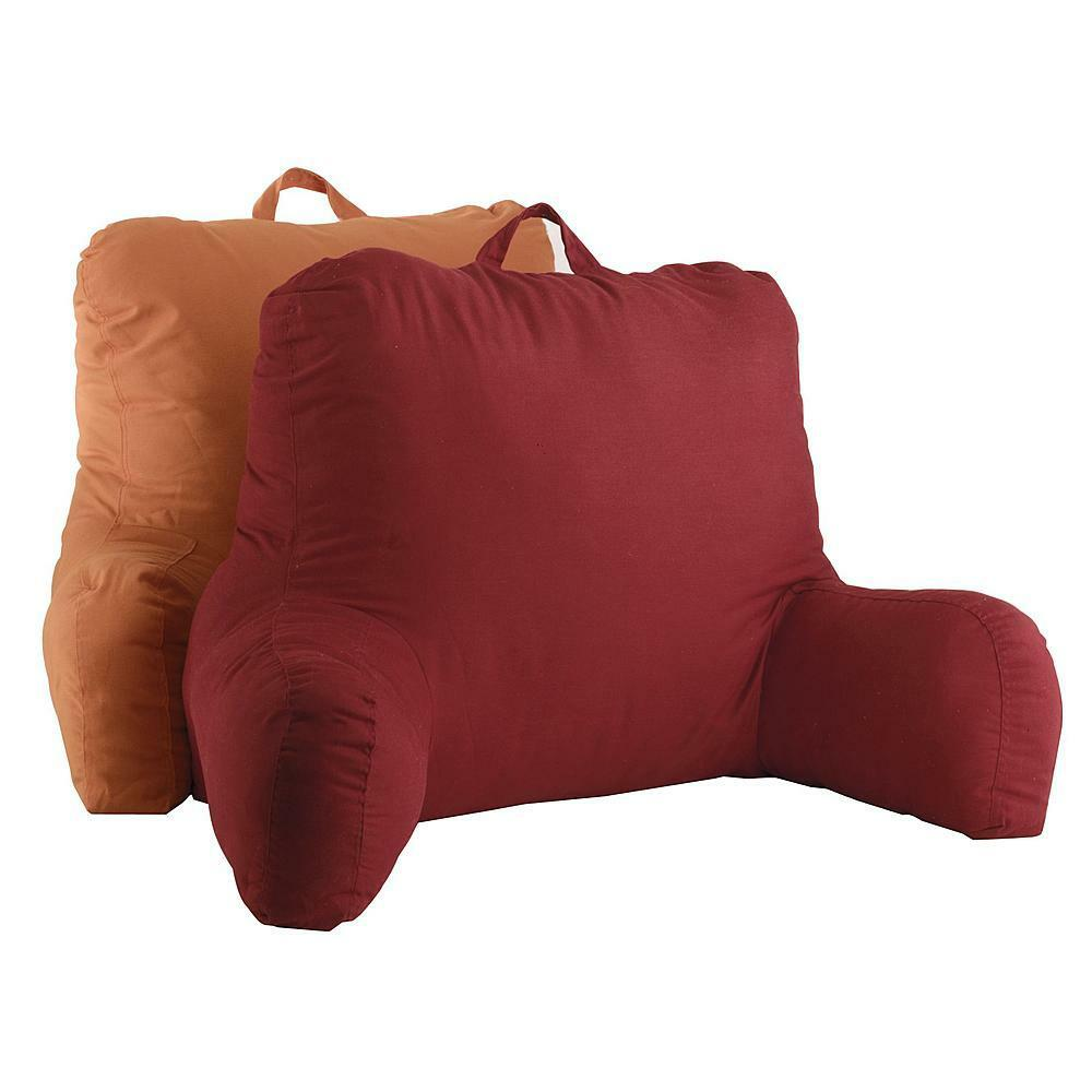 Family Red Twill Bed Back Support Bedrest Reading Pillow