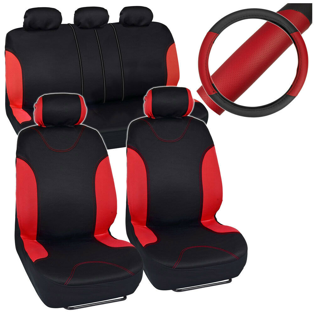 Full Set Of Faux Leather Car Seat Covers