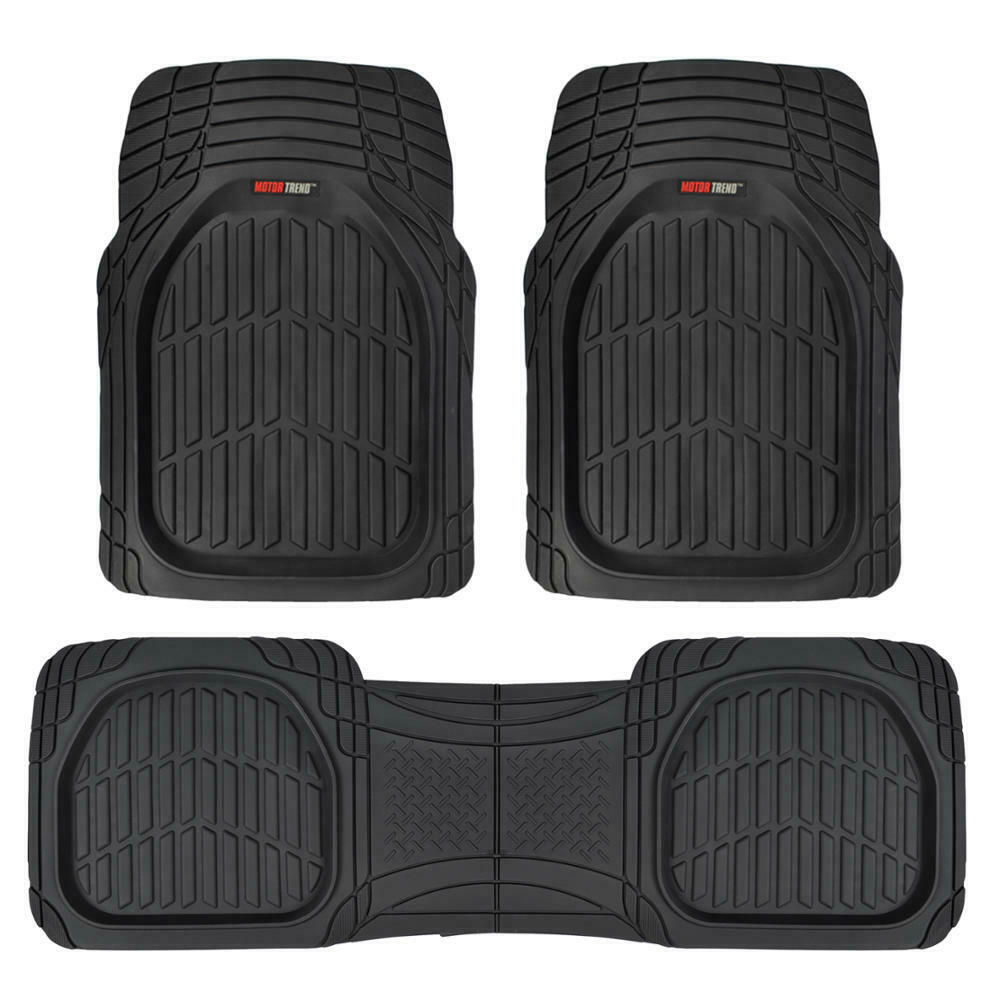 Motor Trend Flextough 3pc Rubber Floor Mats Thick Heavy