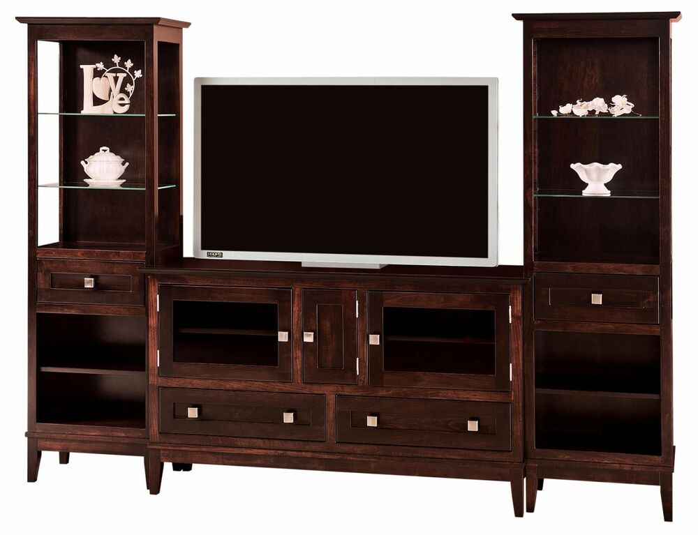 Amish Venice Modern Transitional Tv Console Entertainment