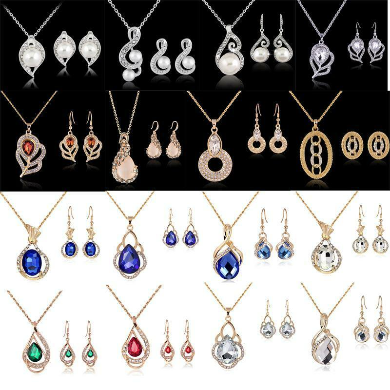 Bridal Party Jewelry Gift Sets : ... Rhinestone Necklace Earrings Set Wedding Party Jewelry Gift eBay