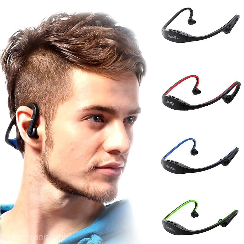 wireless bluetooth headset jogging sport kopfh rer f r. Black Bedroom Furniture Sets. Home Design Ideas
