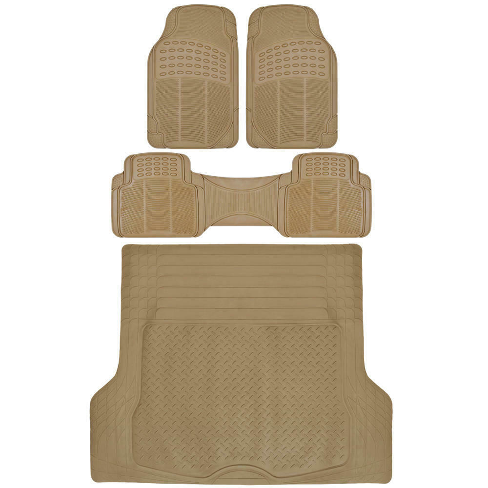 Suv Car Floor Mat 4 Pc Rubber All Weather Hd Front Rear