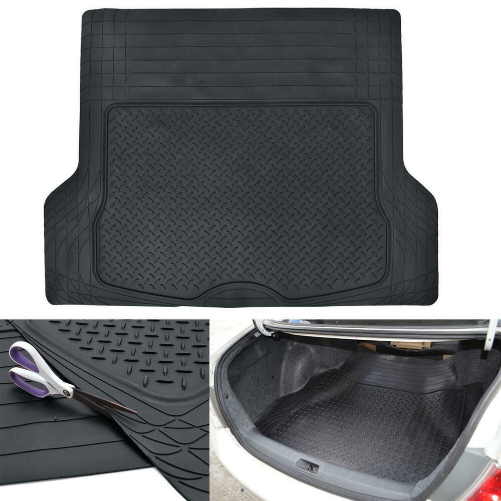 Trunk Cargo Floor Mats For Car Suv Truck Van Black Heavy