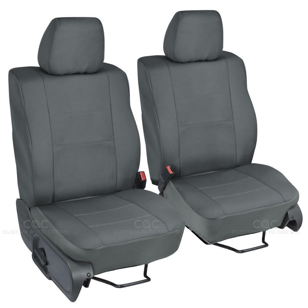 2pc custom charcoal gray cloth seat covers for ford f 150 2004 08 buckets ebay. Black Bedroom Furniture Sets. Home Design Ideas