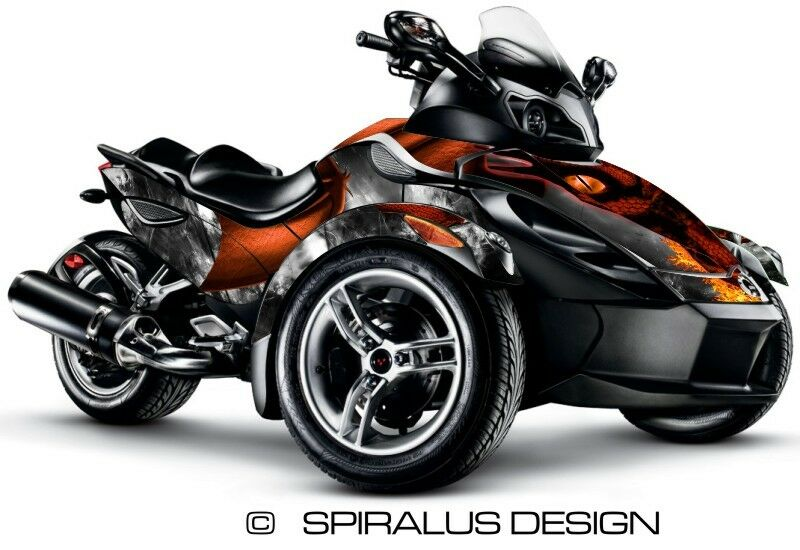 can am spyder rs rss gs graphic wrap decal kit dragon ebay. Black Bedroom Furniture Sets. Home Design Ideas