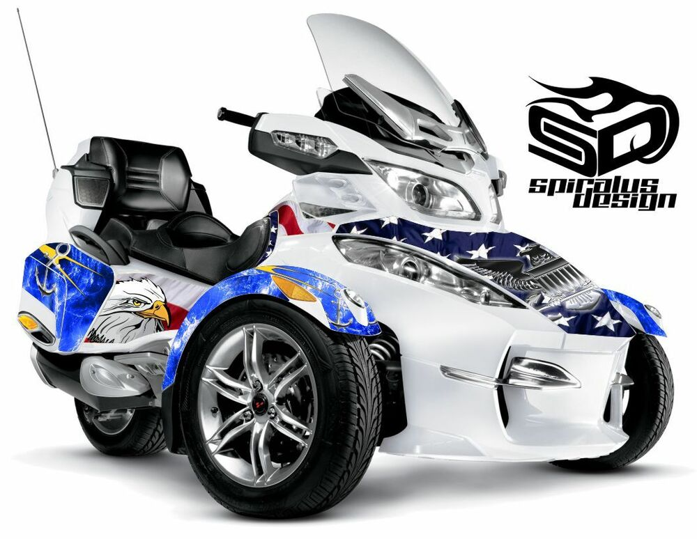 can am spyder rt rts rt limited graphic wrap decal kit. Black Bedroom Furniture Sets. Home Design Ideas