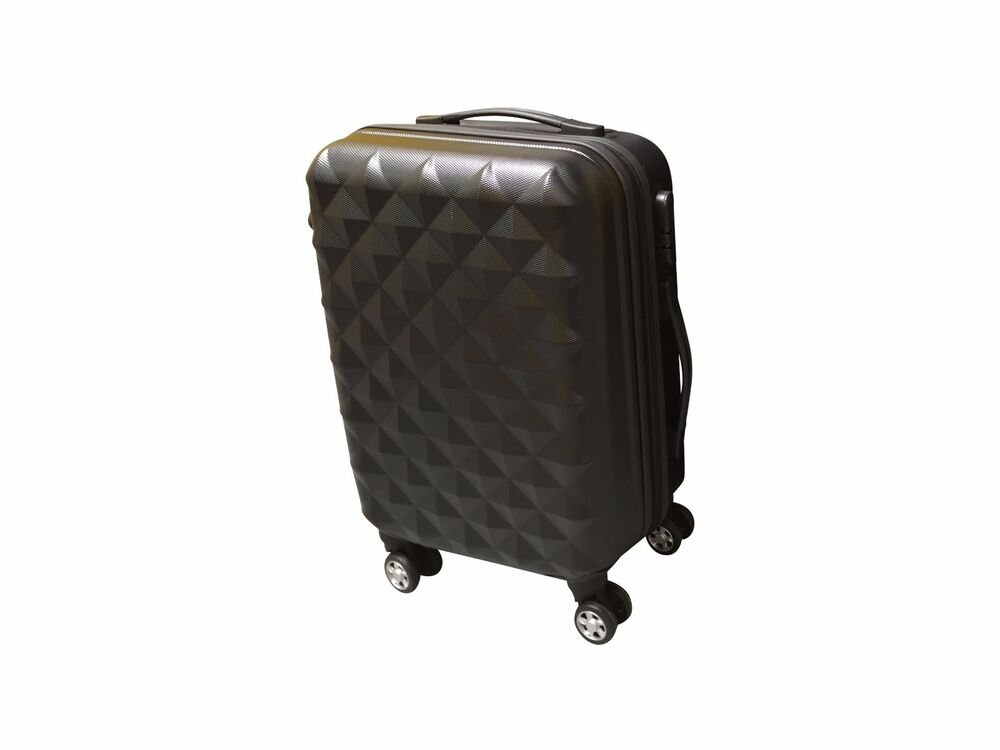 hard shell light weight 4 wheel spin suitcase abs luggage. Black Bedroom Furniture Sets. Home Design Ideas