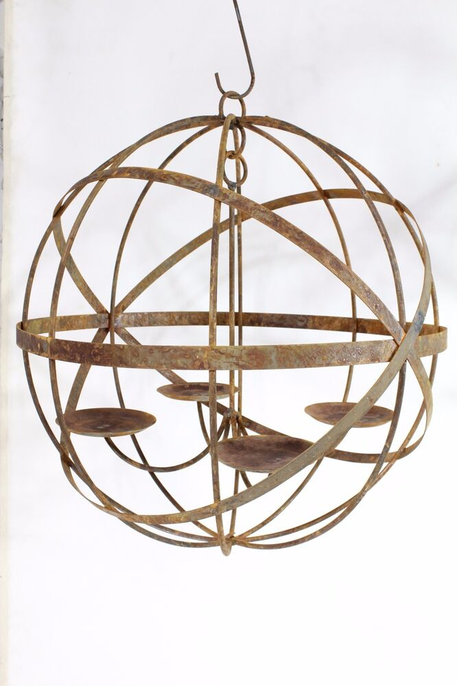 Wrought Iron Lg 20 Quot Mystic Sphere Candle Chandelier