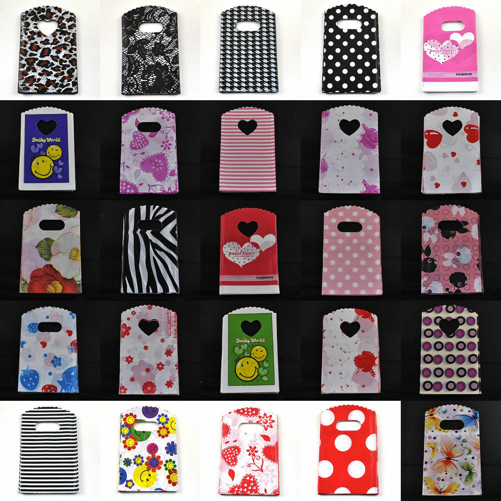 50pcs lot pretty small pouch party bags plastic jewelry. Black Bedroom Furniture Sets. Home Design Ideas