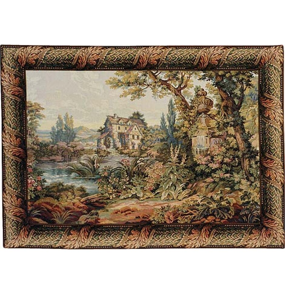 The Old Mill Italian Tapestry Wall Hanging