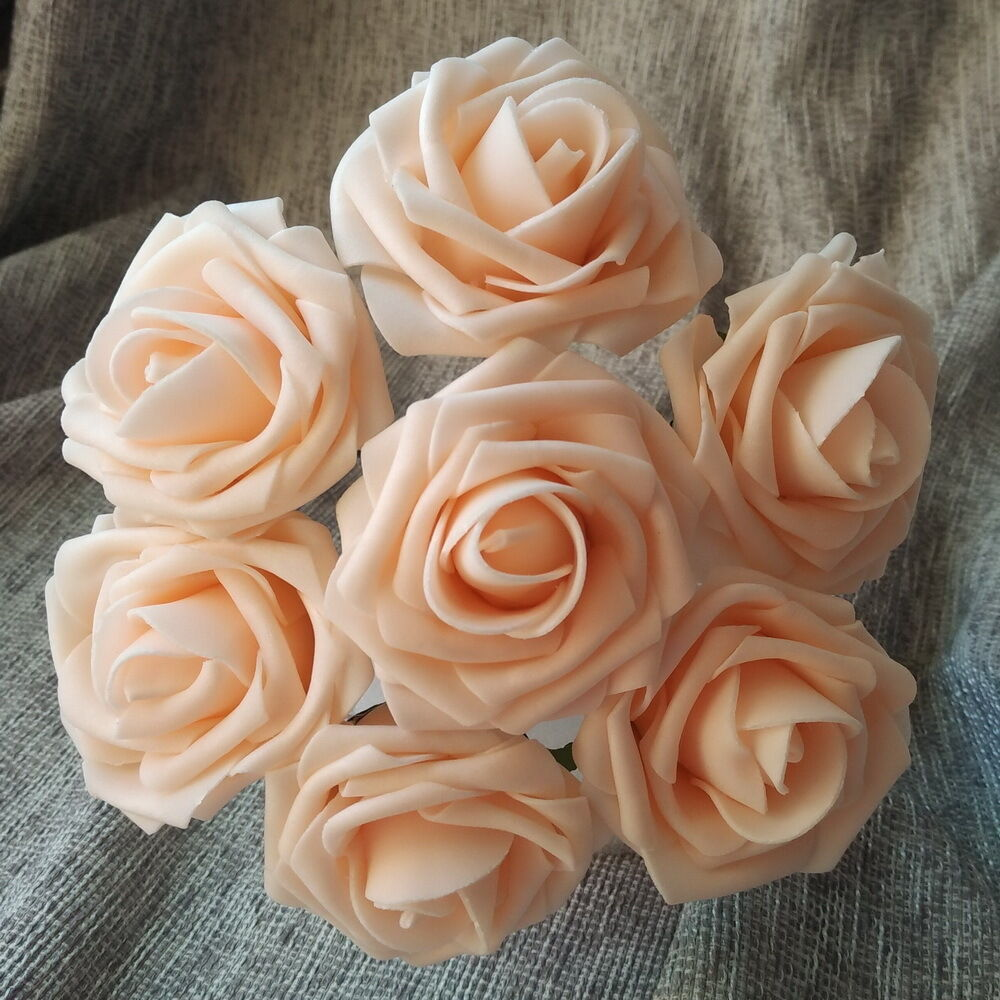 Roses Wedding Flowers: 100 Blush Pink Wedding Flowers Champagne Roses For Bridal
