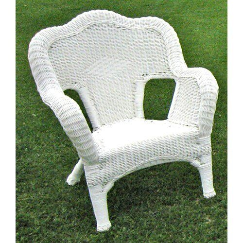 International Caravan Camelback Resin Wicker Patio Chairs Set Of 2 White Ebay