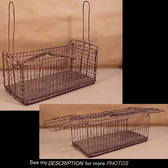 Antique Early Double Ended Wire Mouse / Rodent Trap
