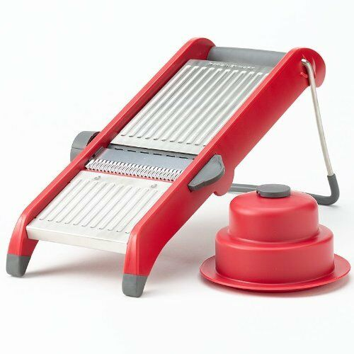 food network table mandoline food slicer in red ebay. Black Bedroom Furniture Sets. Home Design Ideas
