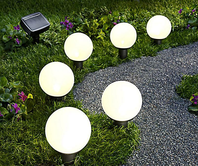 6er set solar gartenstecker led solar leuchte lampe kugeln kugel solarkugeln neu ebay. Black Bedroom Furniture Sets. Home Design Ideas