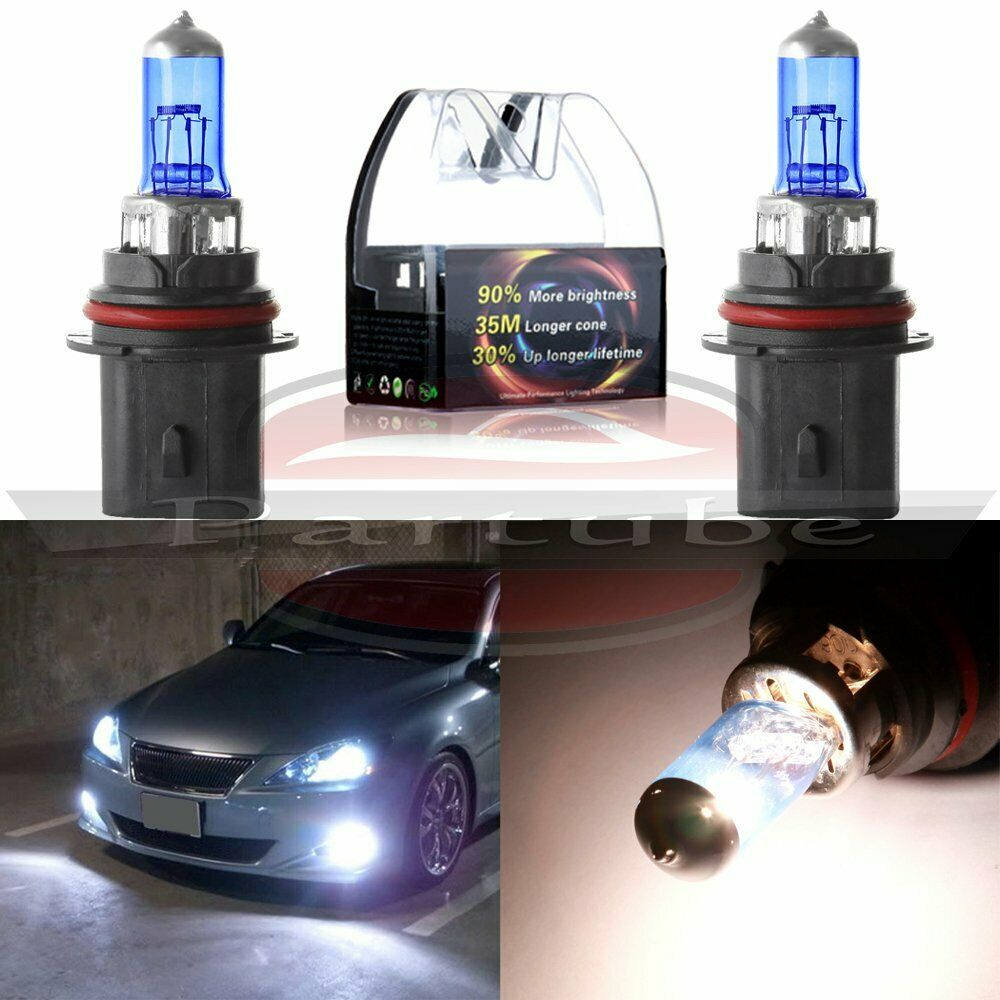 2 X 9004 100w Halogen Light Bright White Car Headlight