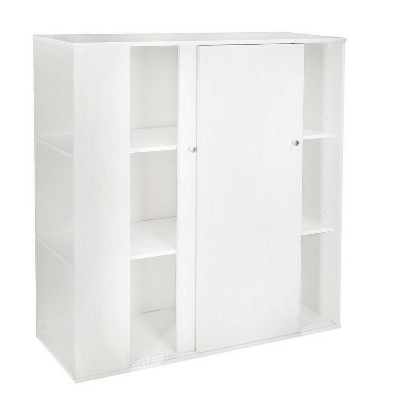 South shore storit kids storage cabinet with sliding doors for Home storage cupboards