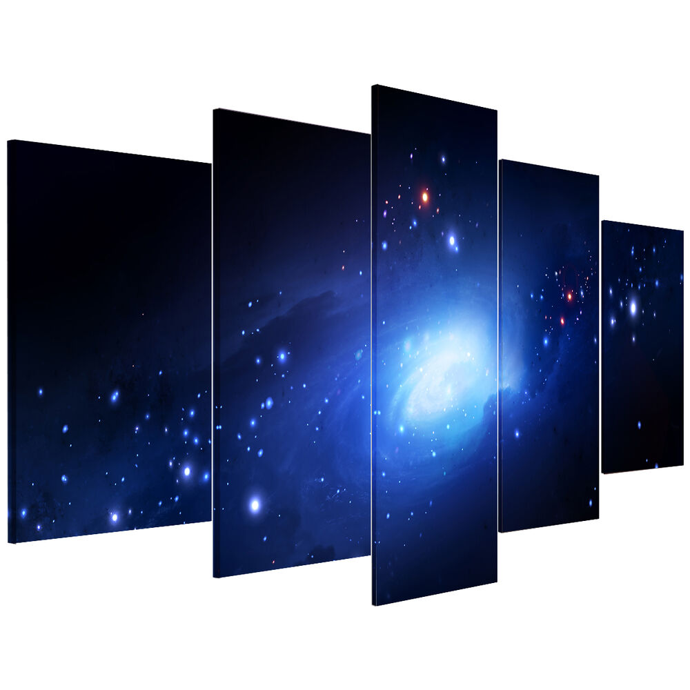 framed ready to hang print picture hd canvas wall art painting universe ebay. Black Bedroom Furniture Sets. Home Design Ideas