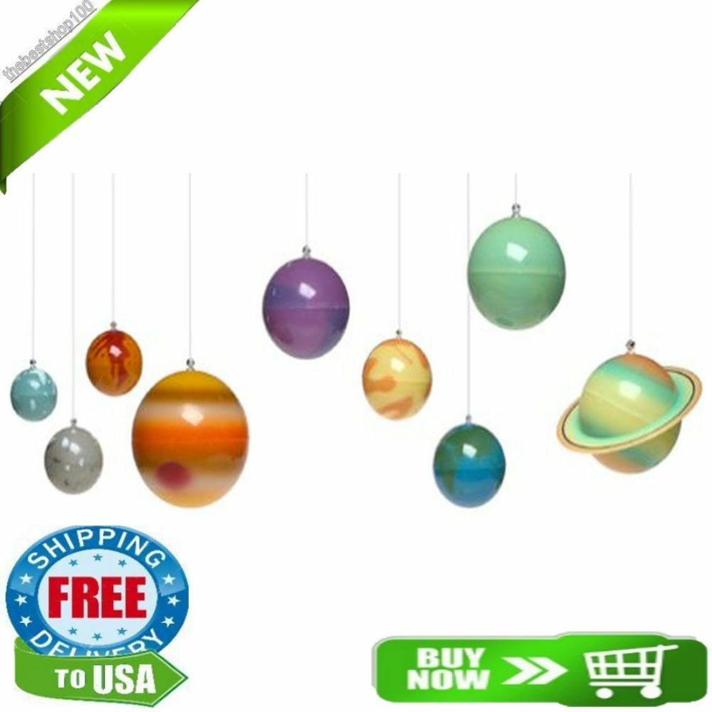 3d solar system glow in the dark kids room decoration for Decoration 3d sol