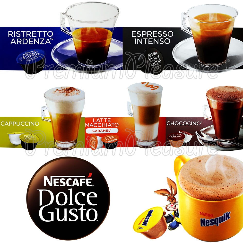 Nescafe dolce gusto coffee pods capsules latte espresso nesquik box of 16 pcs ebay - Support capsule dolce gusto ...