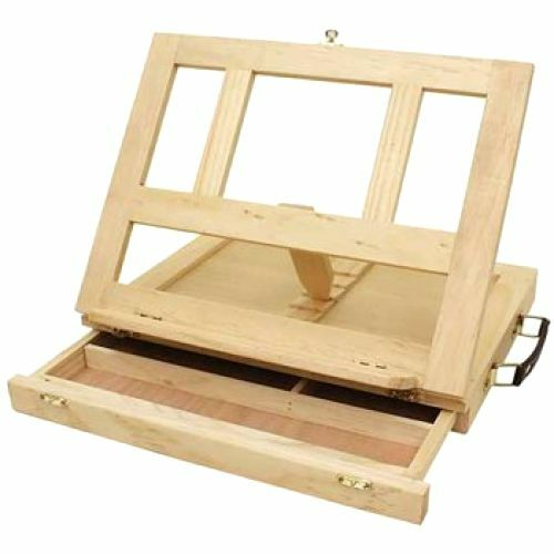 Wooden Artist Easel Folding Wood Box Sketch Painting Table