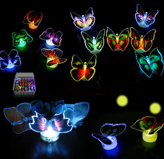 Romantic Auto Changing Butterfly Night Light Led Lamp