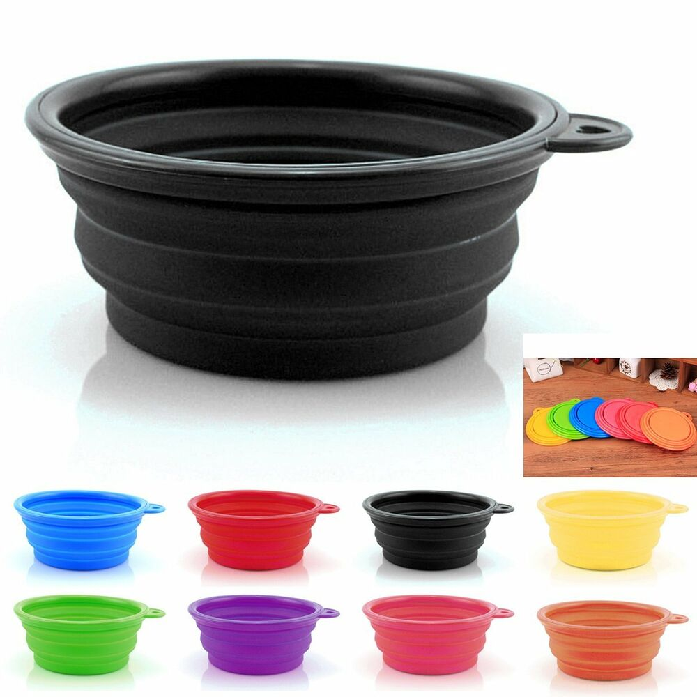 Portable Dog Water Bowls Bowl For Large Breed Dogs Premium: Portable Collapsible Silicone Cat Dog Pet Travel Feeding