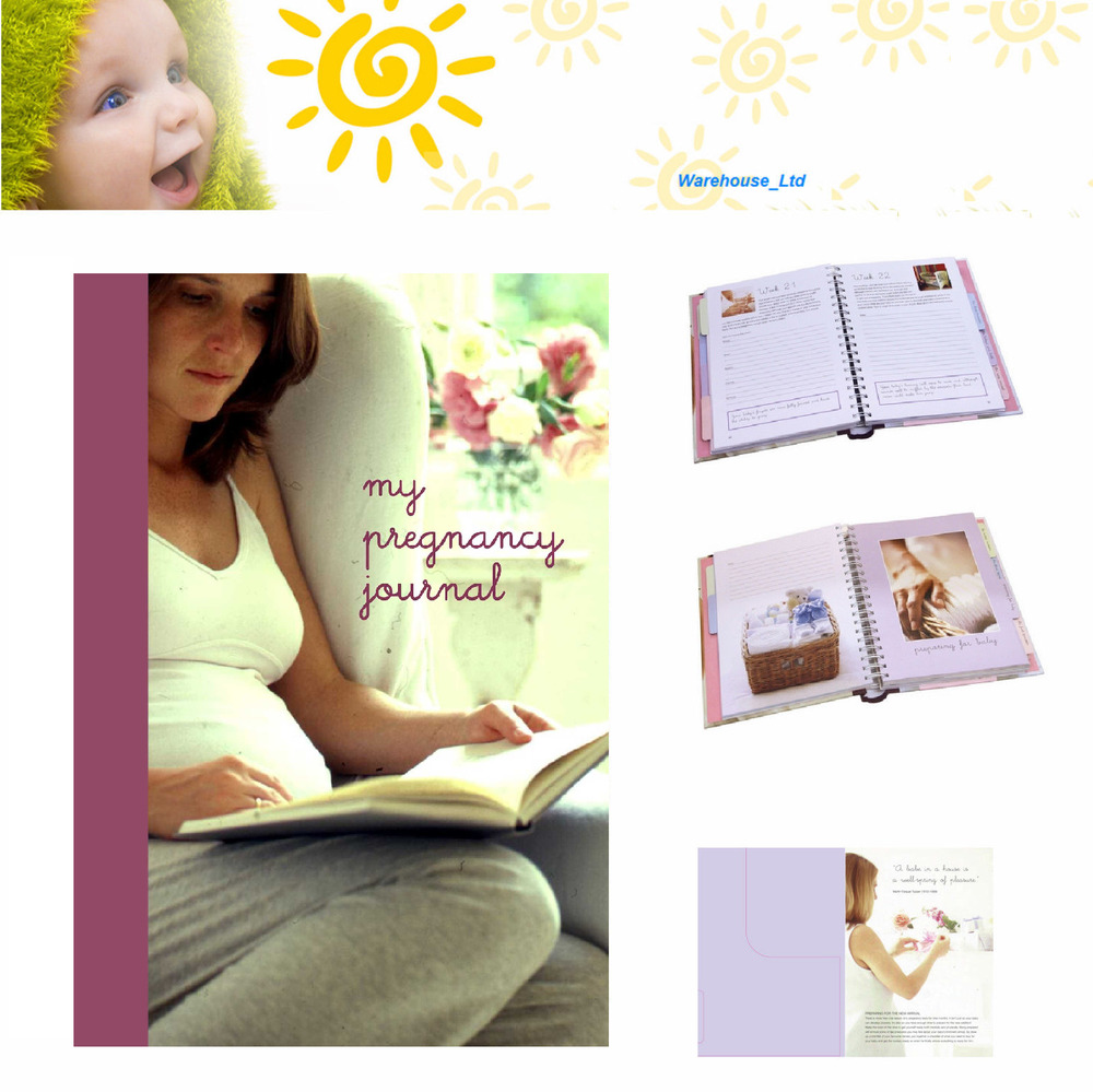 My Pregnancy Journal Keepsake Book, Hard Back with ...