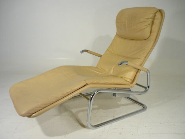 Vintage Mid Century Danish Modern Dux Chrome Leather Reclining Chaise Eames Era Ebay