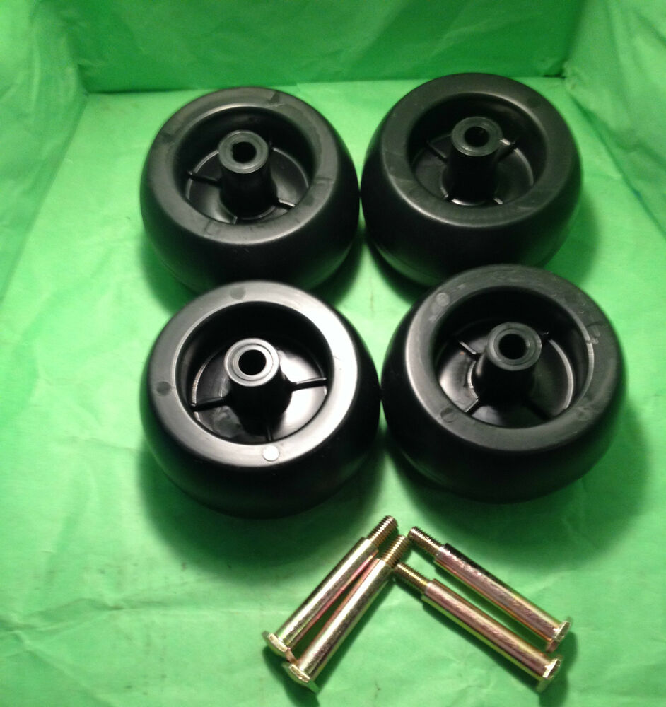 Craftsman Riding Lawn Mower Deck Wheels Amp Bolts 4 Pack