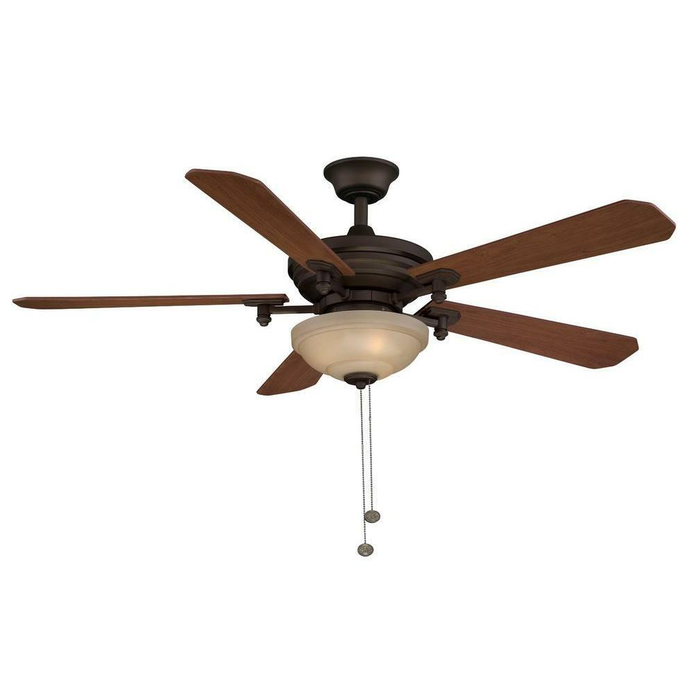 hampton bay downrod hampton bay baxter ii 52 in rubbed bronze ceiling fan 1538