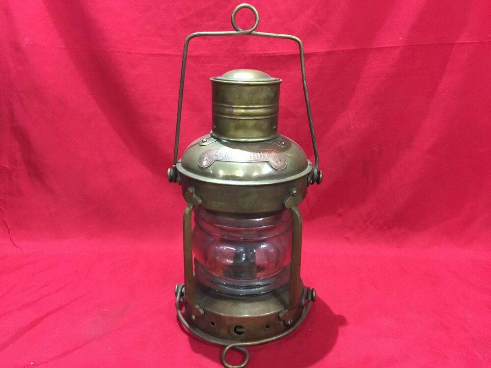 Antique Bronze Anchor Light Lantern Kerosene Marine Boat Nautical Ankerlicht Nav Ebay