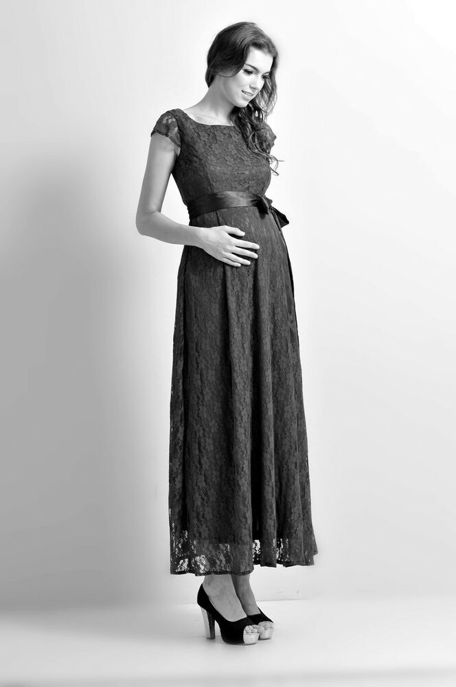 Maternity Evening Dressbabyshower Wedding Bridal Party Lace Gown
