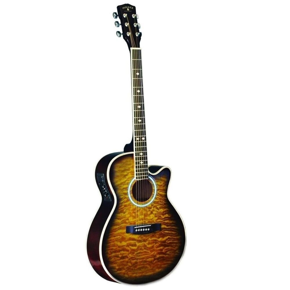 indiana madison deluxe quilt tobacco mad qttb electric guitar new ebay. Black Bedroom Furniture Sets. Home Design Ideas