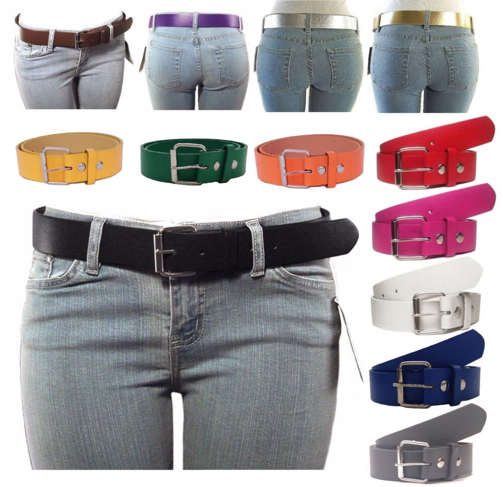new s thick wide bonded leather belt w removable